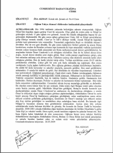 İsa Akman'ın 26 Mart 2009 tarihli ifadesi