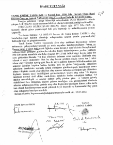 Emine Tadik'in 15 Temmuz 2002 tarihli ifadesi